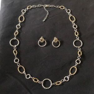 Etieene Aigner  necklace with clip on earrings